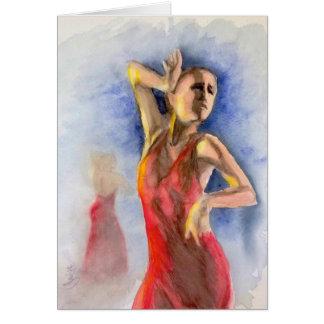 フラメンコのダンサー2 カード