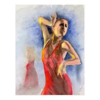 フラメンコのダンサー2 ポストカード