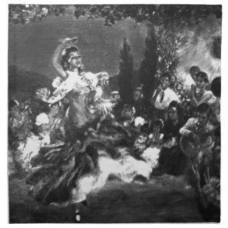 フラメンコのダンサー ナプキンクロス