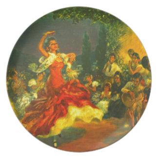 フラメンコのダンサー プレート