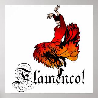 フラメンコのダンサー ポスター
