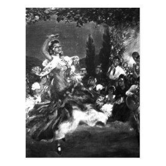 フラメンコのダンサー ポストカード