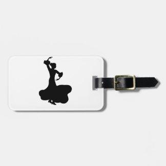 フラメンコのダンサー ラゲッジタグ