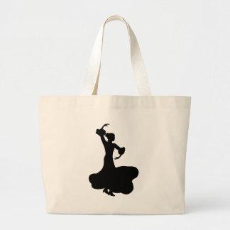 フラメンコのダンサー ラージトートバッグ
