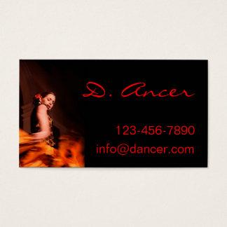 フラメンコのダンサー 名刺