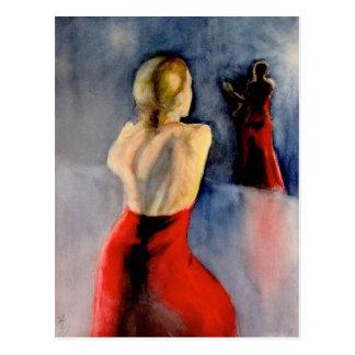 フラメンコのダンサー-3 ポストカード