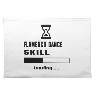 フラメンコのダンスの技術のローディング...... ランチョンマット