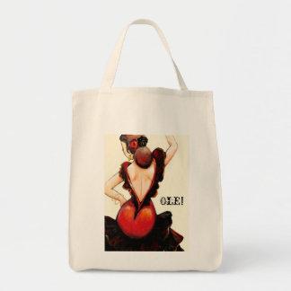 フラメンコの再使用可能な買物客 トートバッグ