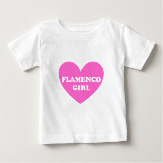 フラメンコの女の子 ベビーTシャツ