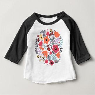 フラワーアレンジメント ベビーTシャツ