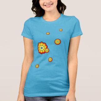 フラワーチャイルドの女性のTシャツ Tシャツ