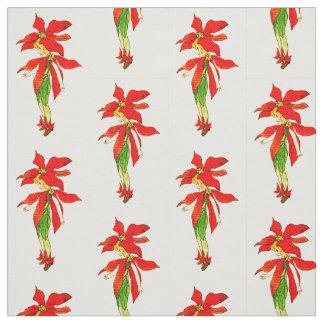 フラワーチャイルドの花の妖精パターン ファブリック
