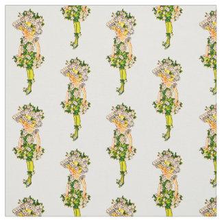 フラワーチャイルド忘れ私ない花の妖精パターン ファブリック