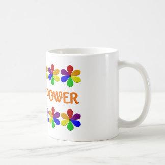 フラワーパワーのマグ コーヒーマグカップ