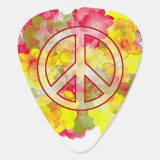 フラワーパワーの平和 ギターピック