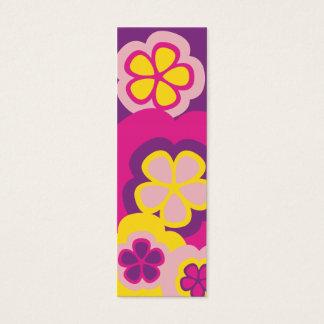 フラワーパワーの紫色 スキニー名刺