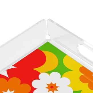フラワーパワーの開花の壁紙 + あなたのアイディア アクリルトレー
