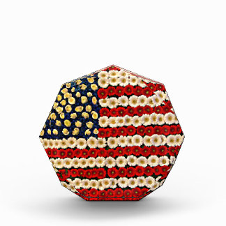 フラワーパワー米国の旗 表彰盾