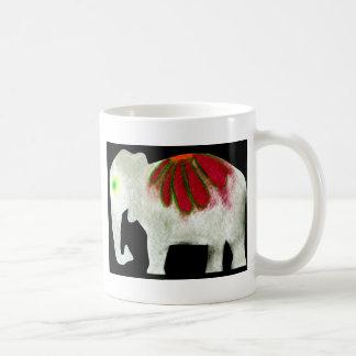 フラワーパワー象 コーヒーマグカップ