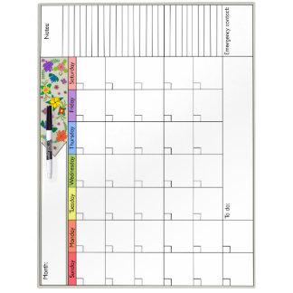 フラワーパワー6Wのカレンダー ホワイトボード