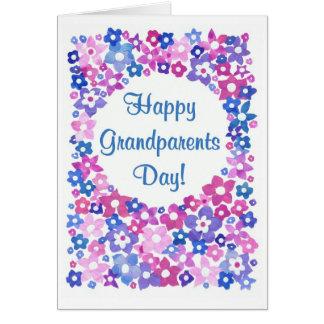 「フラワーパワー」の祖父母日の挨拶状 カード
