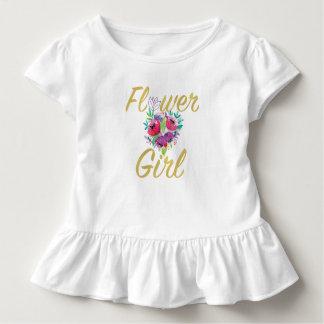 フラワー・ガールのギフトのTシャツ トドラーTシャツ