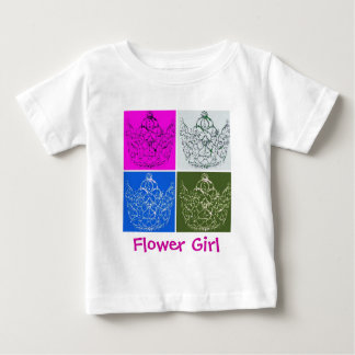 フラワー・ガールのギフト ベビーTシャツ