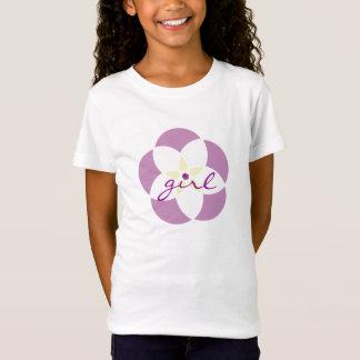 フラワー・ガールのティー-青年媒体 Tシャツ