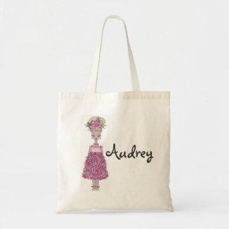 フラワー・ガールのトートバック-個人化して下さい(Audrey) トートバッグ