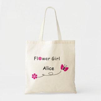 フラワー・ガールのバッグ蝶 トートバッグ