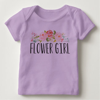 フラワー・ガールのベビーのティー|の新婦付添人 ベビーTシャツ