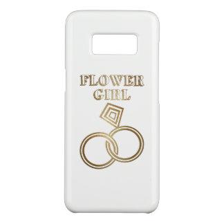 フラワー・ガールのロマンチックな金の指輪の結婚 Case-Mate SAMSUNG GALAXY S8ケース