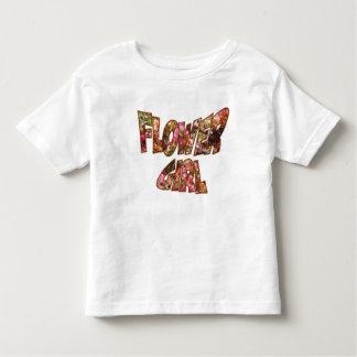 フラワー・ガールの幼児のティーの大きいレタリング トドラーTシャツ