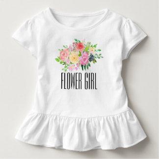 フラワー・ガールの幼児のティーはフラワー・ガールのTシャツをからかいます トドラーTシャツ