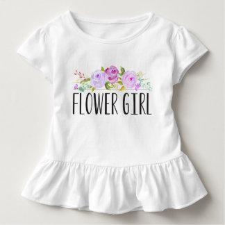 フラワー・ガールの紫色の幼児のティー|の新婦付添人 トドラーTシャツ