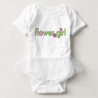フラワー・ガールの赤ん坊のチュチュ ベビーボディスーツ