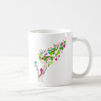 フラワー・ガール コーヒーマグカップ