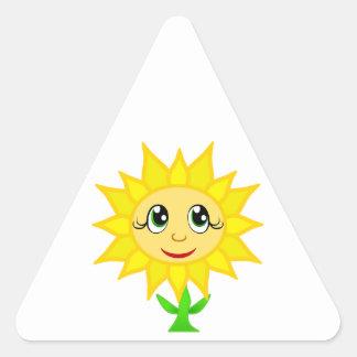 フラワー・ガール 三角形シール