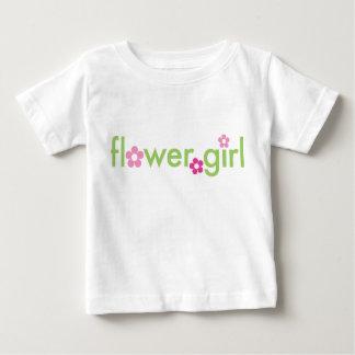 フラワー・ガール-幼児Tシャツ ベビーTシャツ