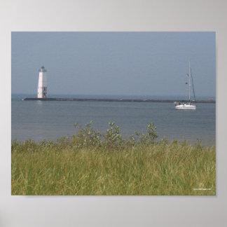 フランクフォートの灯台-ミシガン州 ポスター