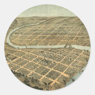 フランクフォートケンタッキーのヴィンテージの地図 ラウンドシール