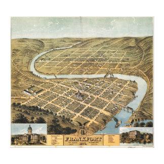 フランクフォート、ケンタッキー(1871年)の鳥瞰的な眺め キャンバスプリント