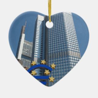 フランクフルト・アム・マインの欧州中央銀行 セラミックオーナメント