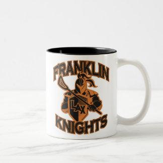フランクリンは15のozのコーヒー・マグをナイト爵に叙します ツートーンマグカップ