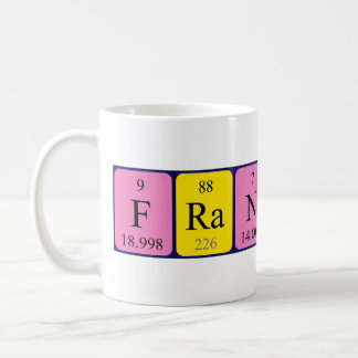 フランクリン周期表の名前のマグ コーヒーマグカップ