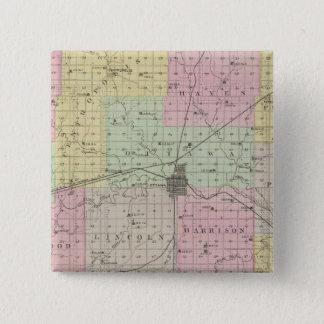 フランクリン郡、カンザス 5.1CM 正方形バッジ