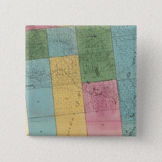 フランクリン郡 5.1CM 正方形バッジ