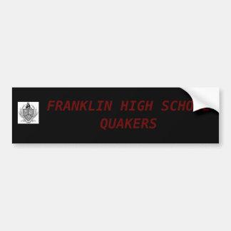 フランクリン高等学校のクエーカー教徒のバンパーステッカー バンパーステッカー