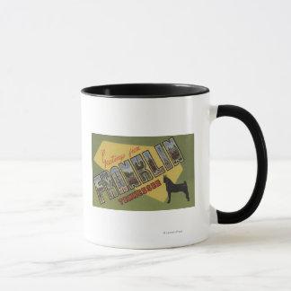 フランクリン、テネシー州-大きい手紙場面 マグカップ
