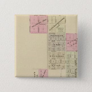 フランクリン、ネブラスカ 5.1CM 正方形バッジ